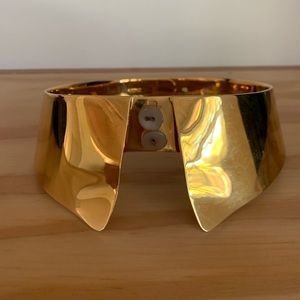 Alexis Bittar gold shirt collar necklace